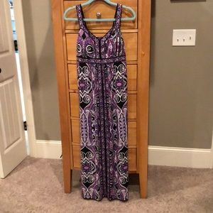 Purple/black maxi
